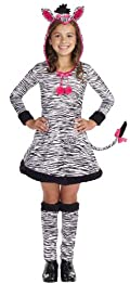 Lil' Wild Thang Zebra Child Costume Black & White Small