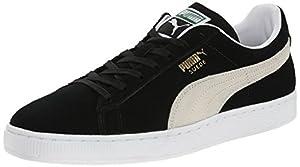 PUMA Suede Classic Sneaker,Black/White,12 M US Men's