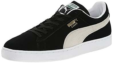 PUMA Suede Classic Sneaker,Black/White,4 M US Men's