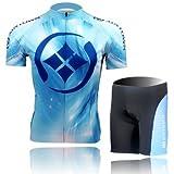 Cycling Jersey Set Short-sleeved Jersey Tenacious Life/perspiration Breathable (M) Reviews