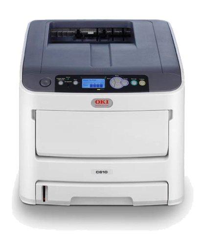 OKI C610dtn Imprimante couleur recto-verso DEL Legal, A4 1200 ppp x 600 ppp jusqu'à 36 ppm (mono) / jusqu'à 34 ppm (couleur) capacité : 930 feuilles USB, 10/100Base-TX