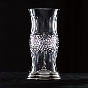 Waterford Crystal Colleen Hurricane Lamp Antique Nickle