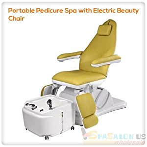 Portable pedicure spa with electric beauty for Portable beauty chair