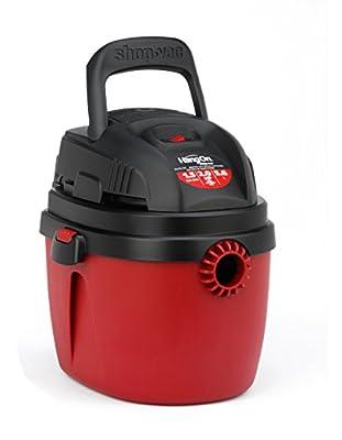 Shop-Vac 2030100 1.5-Gallon 2.0 Peak HP Wet Dry Vacuum, Small, Red/Black
