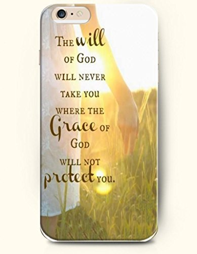 iPhone Case,OOFIT iPhone 6 (4.7) Hard Case **NEW** Case with the Design of The will of God will never take you where the grace of God will not protect you. - Case for Apple iPhone iPhone 6 (4.7) (2014) Verizon, AT&T Sprint, T-mobile