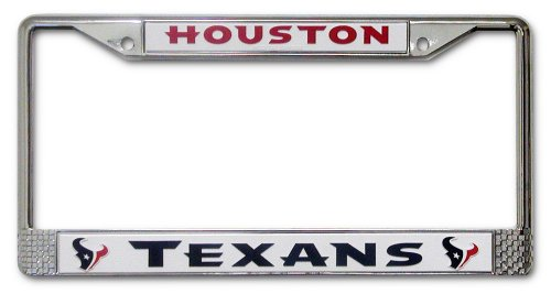 Nfl Houston Texans Chrome Licensed Plate Frame