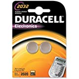 Duracell #dl2032b2pk 3v Long-life Lithium Button Cell Batteries