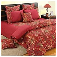 Swayam Shades Of Paradise Printed Cotton Single AC Comforter - Maroon (ACS 11-3002)