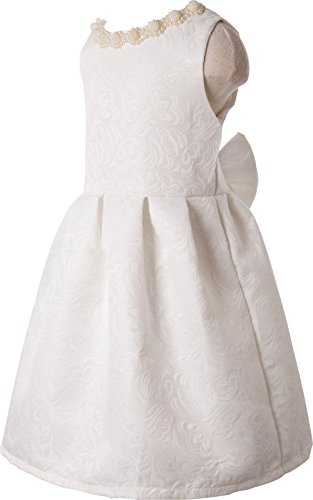Ipuang Big Girls' Lovely Pattern Dresses for Special Occasions 10 White