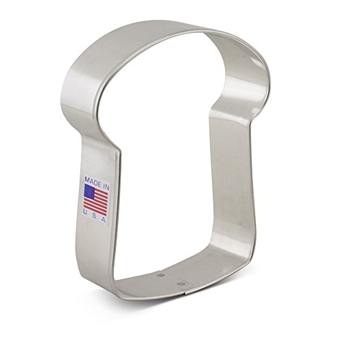 Ann Clark Slice of Bread Cookie Cutter - 4 Inches - Tin Plated Steel (Country Shaped Cookie Cutters compare prices)