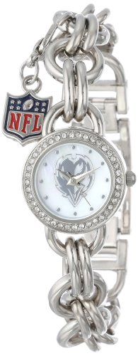 Game Time Women's NFL-CHM-BAL Charm NFL Series Baltimore Ravens 3-Hand Analog Watch at Amazon.com