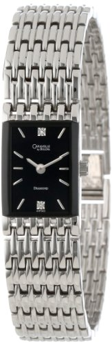 Caravelle by Bulova Womens 43P005 Diamond Accented Black Dial Watch
