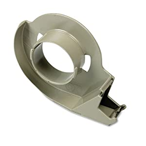 "Scotch : H12 Handheld Filament Tape Dispenser, 3"" core, High-Impact Plastic, Putty -:- Sold as 2 Packs of - 1 - / - Total of 2 Each"