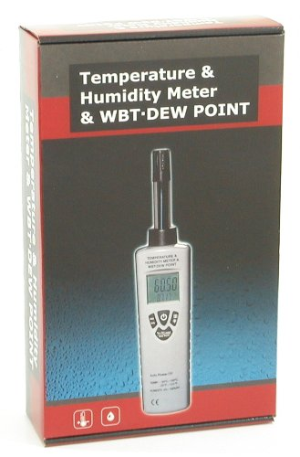 Ruby Electronics DT-321S Digital Humidity Temperature Dewpoint Wet Bulb Meter 4-digit LCD