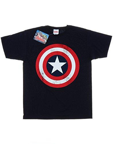 Marvel-Garon-Captain-America-Distressed-Shield-T-shirt