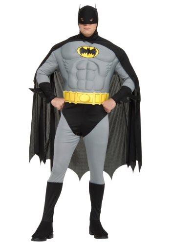 [Muscle Chest Classic Batman Costume - Plus Size - Chest Size 46-50] (Plus Size Batman Costumes)