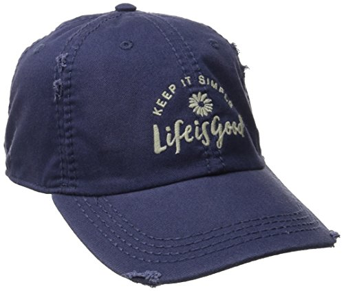 life-is-good-adult-sunwashed-keep-it-simple-daisy-chill-cap-darkest-blue-one-size