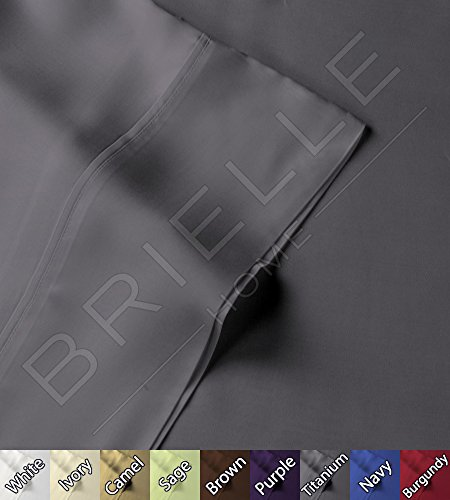 Review Of Brielle 100-Percent Rayon Bamboo Sheet Set, Queen, Titanium