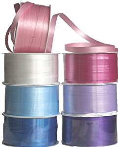 The Gift Wrap Company 7-Color High Gloss Ribbon Set