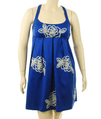INC International Concepts Scoop Neck Dress Regal Blue 12