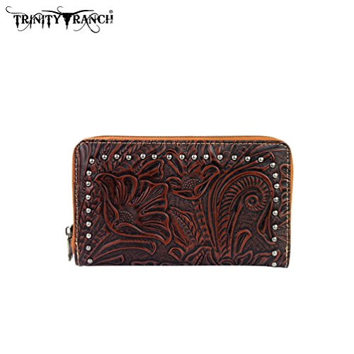 tr22-w003-montana-west-trinity-ranch-tooled-design-wallet-brown
