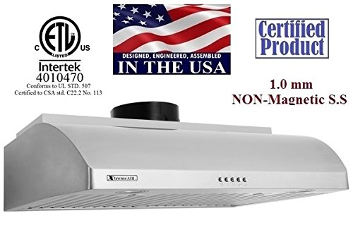 "Xtremeair Ultra Series Ul14-U30, 900 Cfm, 30"" Under Cabinet Hood front-37652"