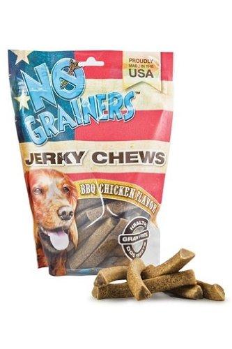 Nootie Tngjc5Bq No Grainers Jerky Chews 5Oz BBQ Chicken Flavor