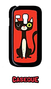 Caseque Bunk Cat Back Shell Case Cover For Samsung Galaxy S3 Mini