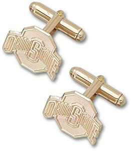 Ohio State Buckeyes 5 8 Athletic O 14KT Gold Cuff Links - 1 Pair by Logo Art