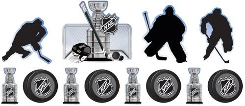 NHL Ice Time Assorted Cutouts 12 Pack