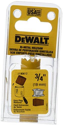 DEWALT D180012 3/4-Inch Standard Bi-Metal Hole Saw