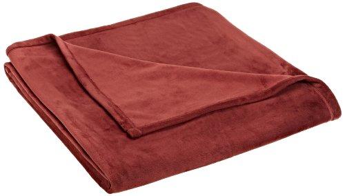 Vellux Plush Blanket, Full/Queen, Burgundy