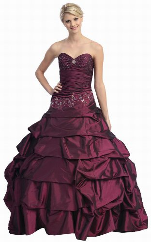 Ball Gown Strapless Formal Prom Dress #557