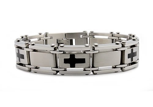 Stainless Steel Men's Link Bracelet 8.25
