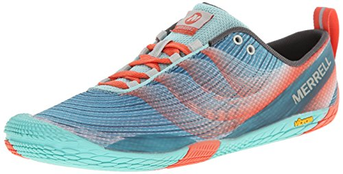 Merrell Women's Vapor Glove 2 Trail Running Shoe,Sea Blue/Coral,9 M US