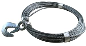 "50' ATV & Boat Winch Cable - 3/16"" with Latch Hook by Fehr"