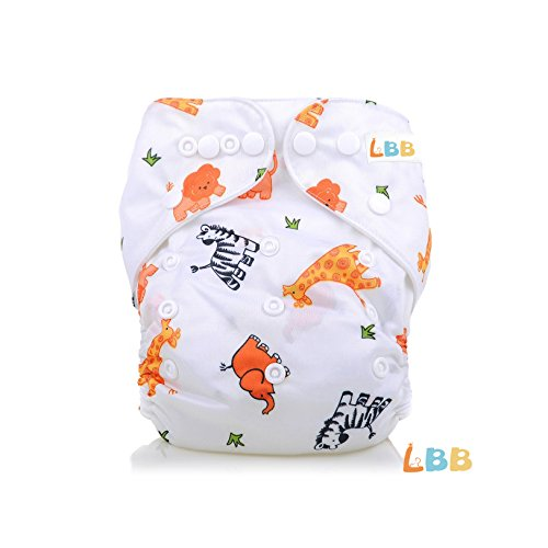 LBB(TM) Baby Resuable Washable Pocket Cloth Diaper With Adjustable Snap,Animal