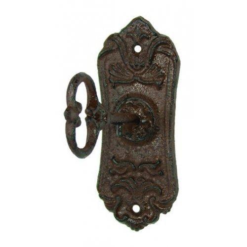 Wall Hook - Skeleton Key Cast Iron Coat Hook & Key Rack (1)