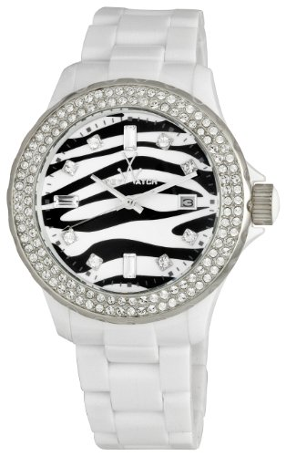 Toy Watch Women's TZ52008WH Zebra Diamond Collection Watch
