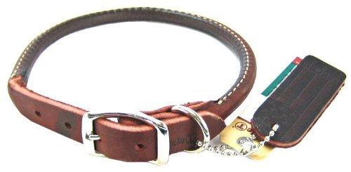 Coastal Pet Circle T Latigo Rolled Leather Dog Collar (16 L x 1/2 W) lovely 2 rows dog pearls necklace collar pet jewelry white purple blue pink s m l