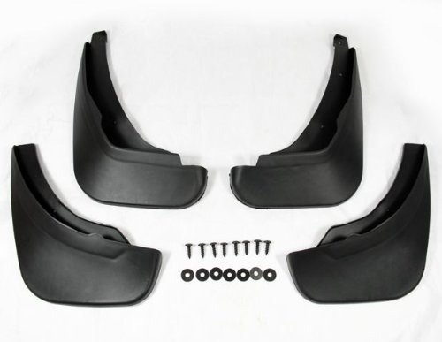 Black Auto parts 4PCS Mudguard Splash Guard Mud Flap Fit For 2008 2009 2010 2011 Mazda 2 / Demio Hatchback