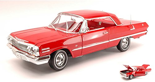 chevrolet-impala-1963-red-118-welly-auto-stradali-modello-modellino-die-cast
