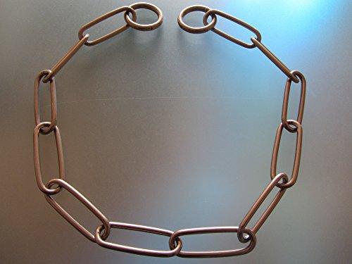 Artikelbild: Kettenhalsband Langgliedkette mit 2 Ringen Curogan 3 mm für Hunde bis 35 kg (62 cm)