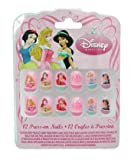Disney Princess Press On Nails Fingernails Finger Nail 12 Count