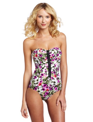 Seafolly Women's Tea Rose Maillot, Orchid, 6