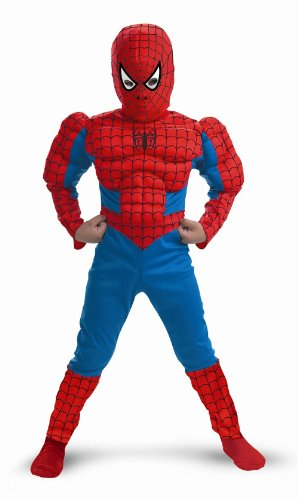 Child Spiderman Costume Spiderman Muscle Arms & Chest 5766