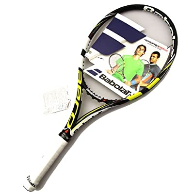 Babolat 101174-142 Aeropro Drive GT Unstrung Tennis Racquet, 4 3/8 (Black/Yellow)