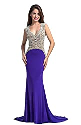 Chic Belle Women Ity Beaded Party Evening Gown Prom Dress 2016