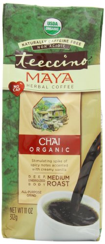 Teeccino Organic Herbal Coffee, Maya Chai, Caffeine-Free, 11-Ounce Bags (Pack of 3)