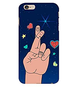 Cute Finger Drawing 3D Hard Polycarbonate Designer Back Case Cover for Apple iPhone 6 Plus